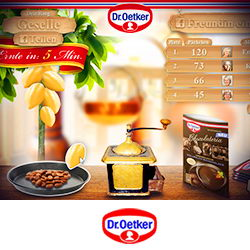 Dr. Oetker – FB-App Konzept Visualisierung